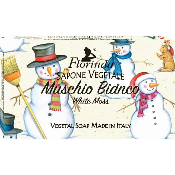 Фото - Мыло FLORINDA Muschio Bianco / Белый Мускус 100 г (Счастливого Рождества) духи спрей для дома белый мускус natural muschio bianco 150мл