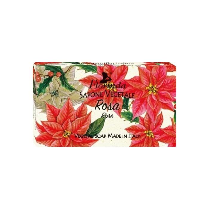 Мыло FLORINDA Rosa / Роза 100 г (Новогоднее Волшебство)