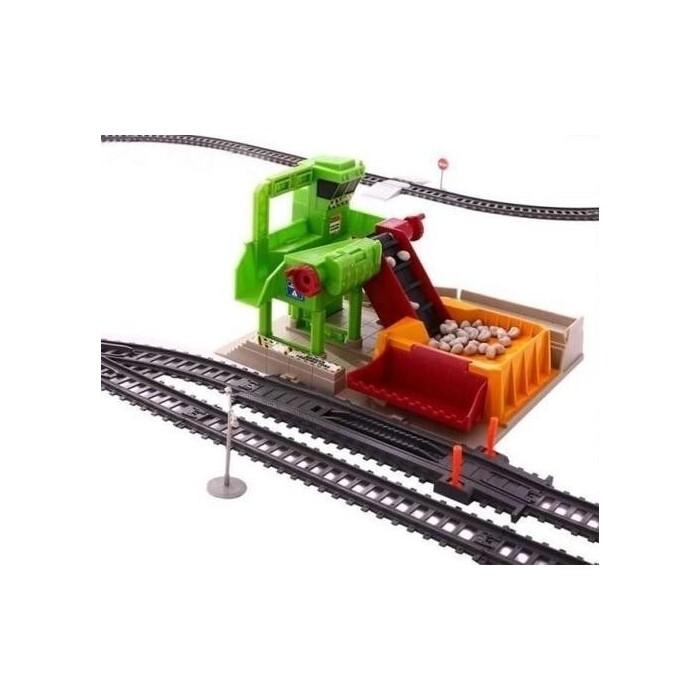 Железная дорога со станцией BSQ загрузки щебня, длина полотна 1067 см - BSQ-2085