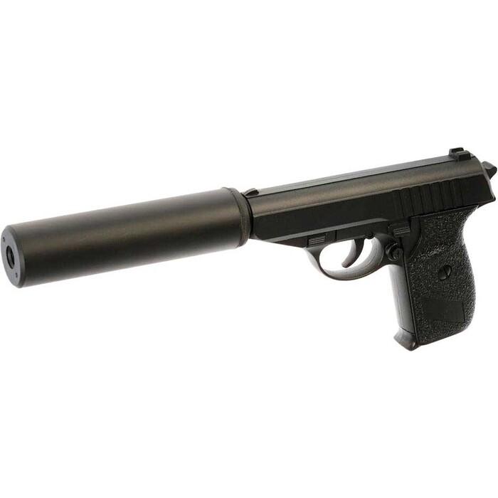 Пистолет CS Toys пневматика металлический 15 см с глушителем - G.3A CS-G3A