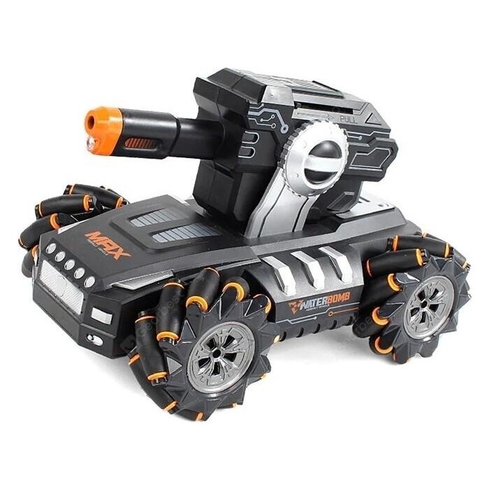 CS Toys Радиоуправляемый дрифт танк-робот, стреляет гелевыми пулями - QR2075-ORANGE