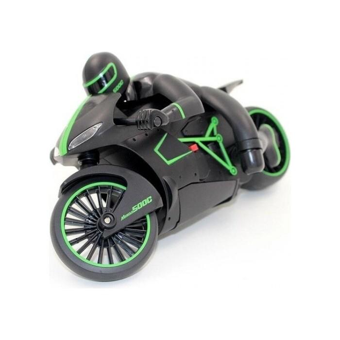Радиоуправляемый черно-зеленый мотоцикл ZC 333 4CH 1/12 2.4G - 333-MT01B-G