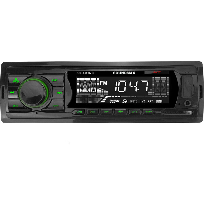 Автомагнитола Soundmax SM-CCR3071F 1DIN
