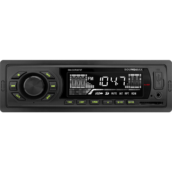 Автомагнитола Soundmax SM-CCR3073F 1DIN