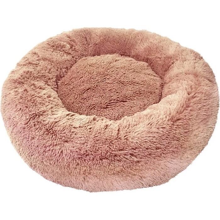 Лежанка Зоогурман Пушистый сон (60*60*16 см) коричневый