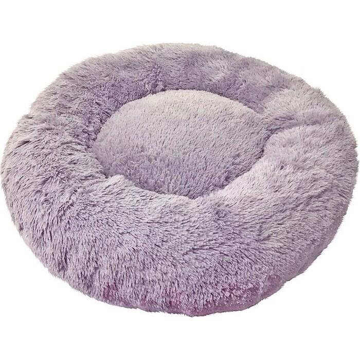 Лежанка Зоогурман Пушистый сон (60*60*16 см) серый