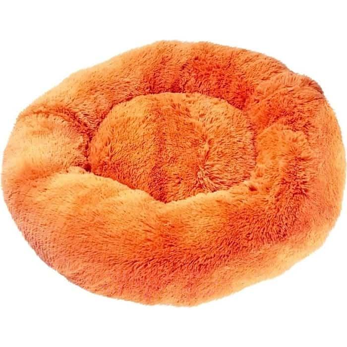 Лежанка Зоогурман Пушистый сон (80*80*17 см) оранжевый