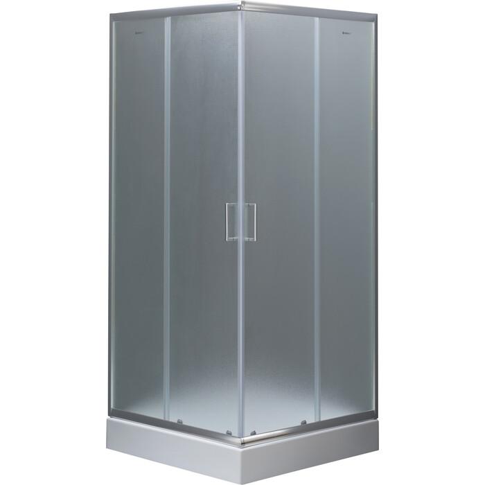 Душевой уголок Aquanet 80х80х185 стекло с узором, хром (SE-800S)