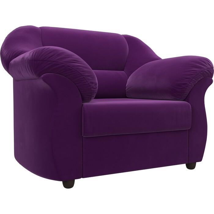 Кресло Лига Диванов Карнелла микровельвет фиолетовый