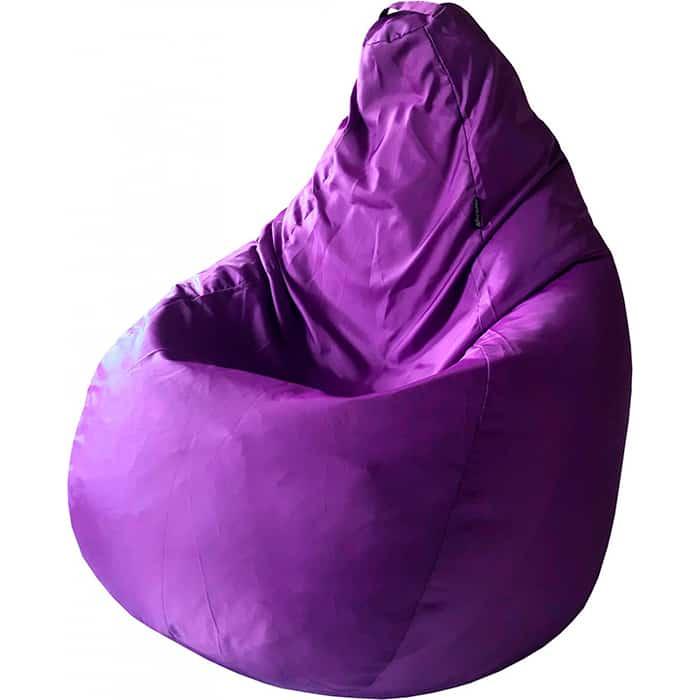 Кресло-мешок Папа Пуф Оксфорд фиолетовый L 100x75