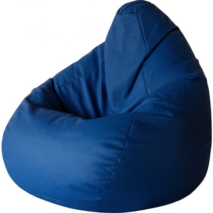Кресло-мешок Папа Пуф Экокожа синий XL 125x85