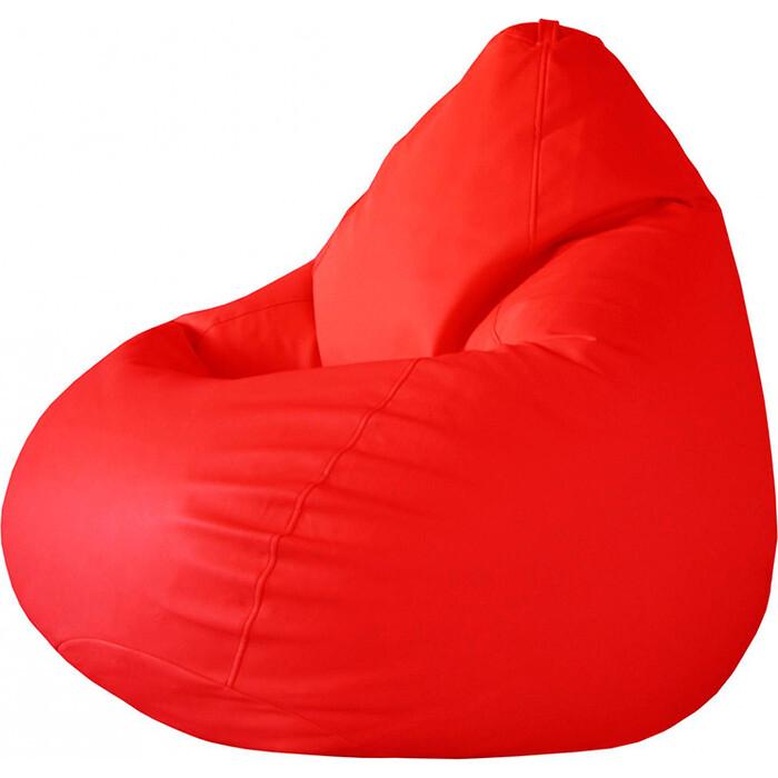 Кресло-мешок Папа Пуф Экокожа красный XXL 135x90