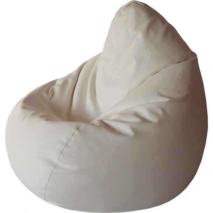 Кресло-мешок Папа Пуф Экокожа белый XXL 135x90