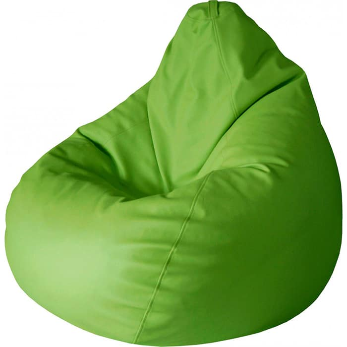 Кресло-мешок Папа Пуф Экокожа зеленый XXL 135x90