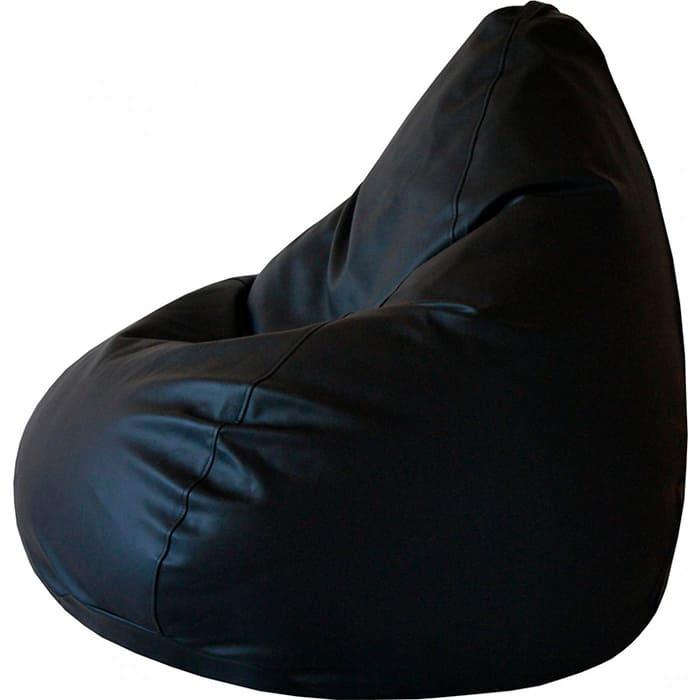 Кресло-мешок Папа Пуф Экокожа черный 3XL 150x100