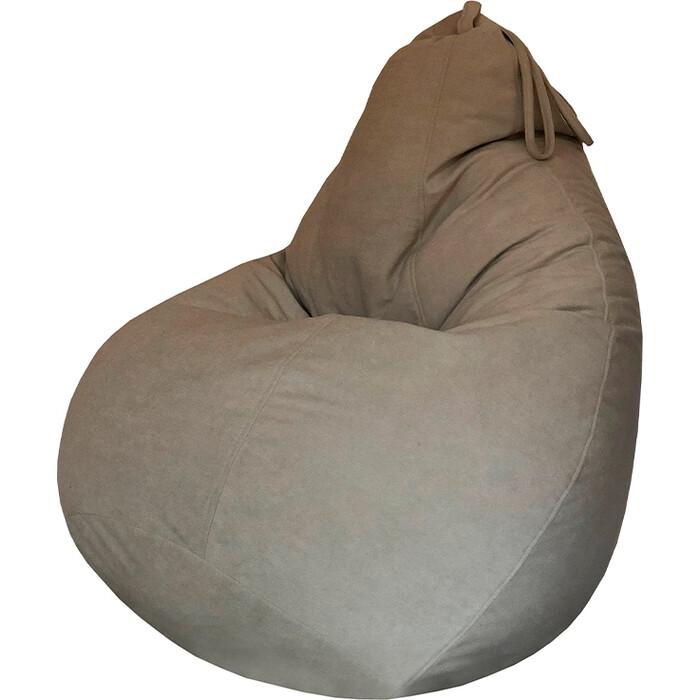 Кресло-мешок Папа Пуф Велюр бежевый XXL 135x90
