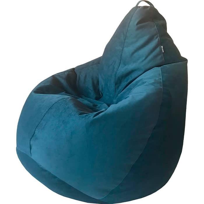 Кресло-мешок Папа Пуф Велюр синий XXL 135x90