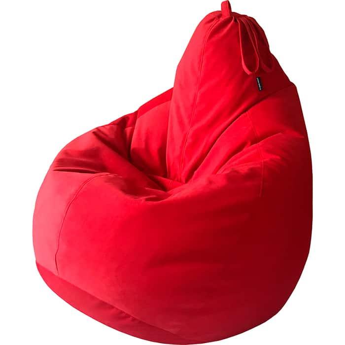 Кресло-мешок Папа Пуф Велюр красный 3XL 150x103