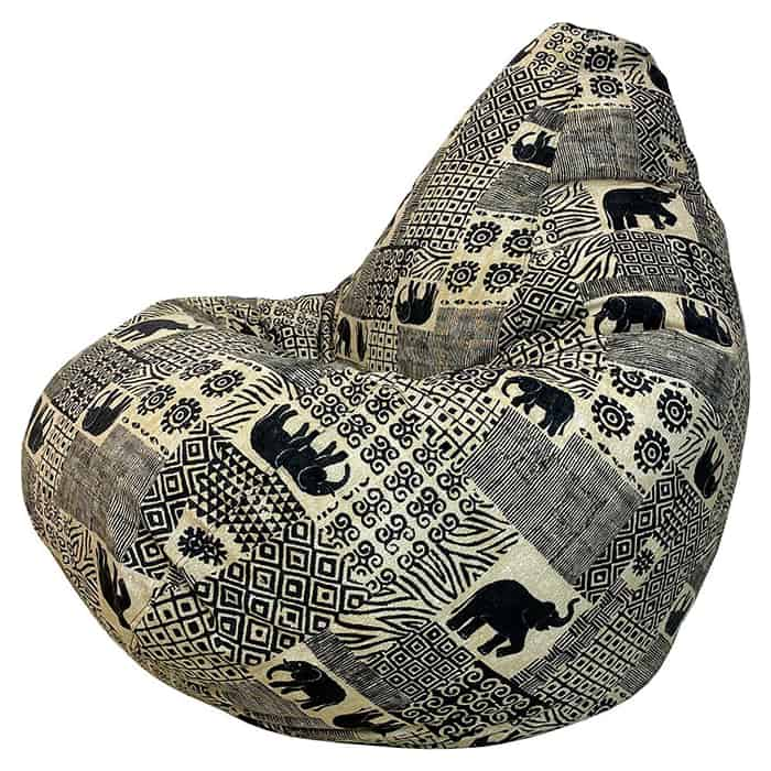 Кресло-мешок Папа Пуф Жаккард Индия XL 125x85