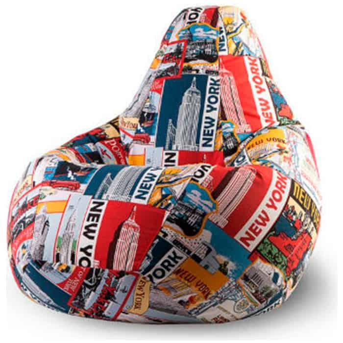 Кресло-мешок Папа Пуф Жаккард Нью-Йорк XXL 135x90