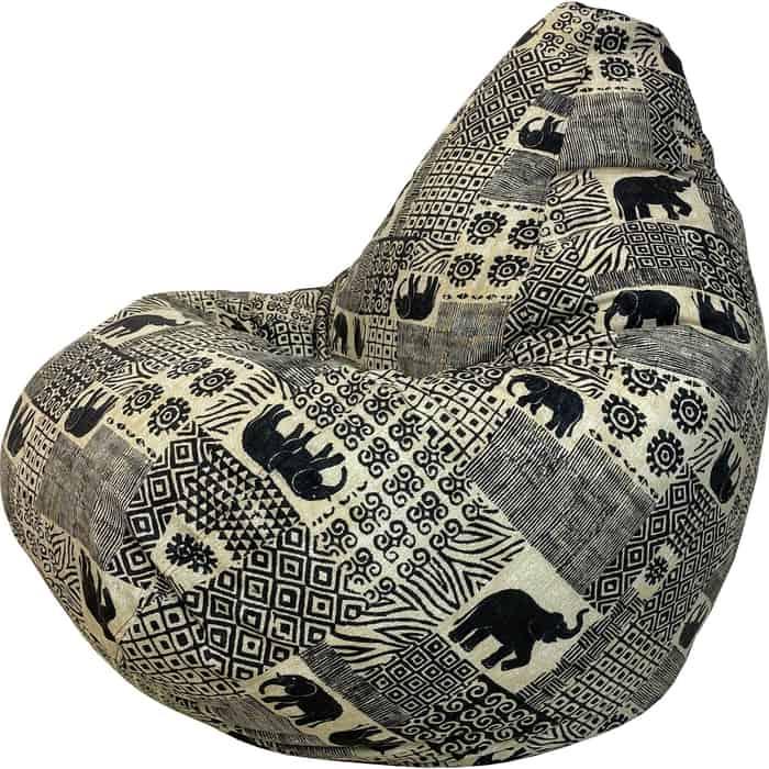 Кресло-мешок Папа Пуф Жаккард Индия 3XL 150x100
