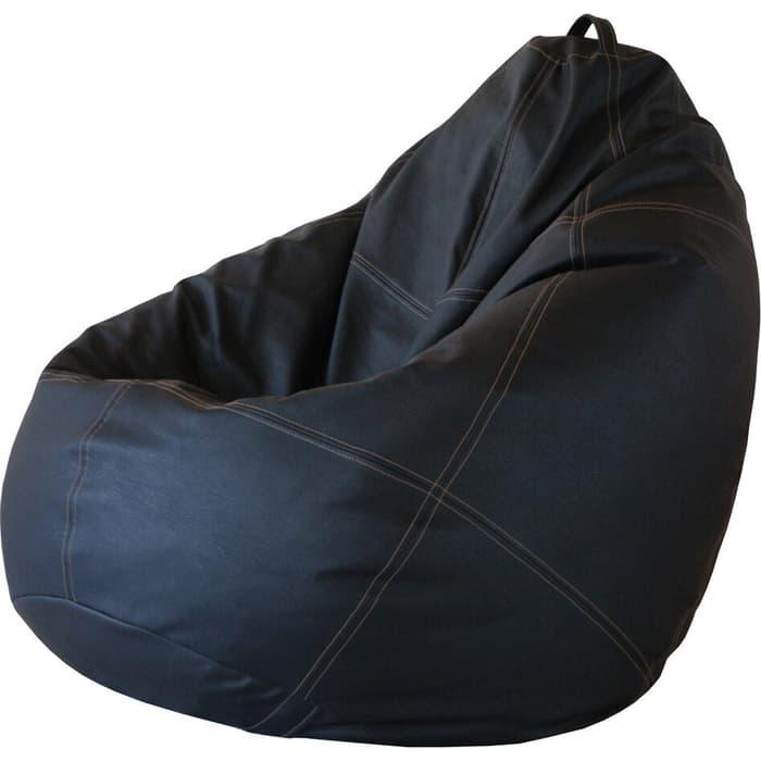 Кресло-мешок Папа Пуф Boss черный 3XL 150x100