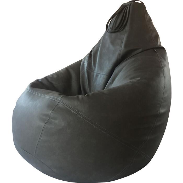 Кресло-мешок Папа Пуф Boss серый 3XL 150x100