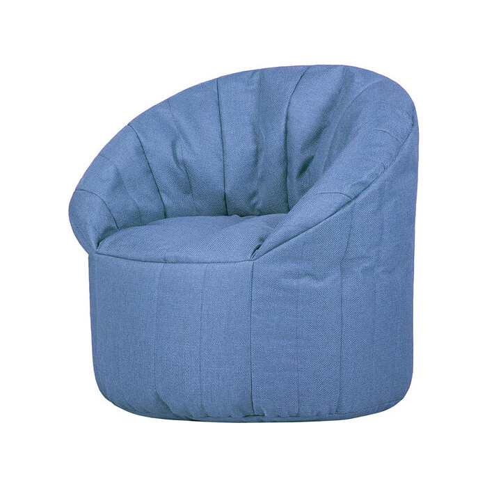 Бескаркасное кресло Папа Пуф Club chair blue
