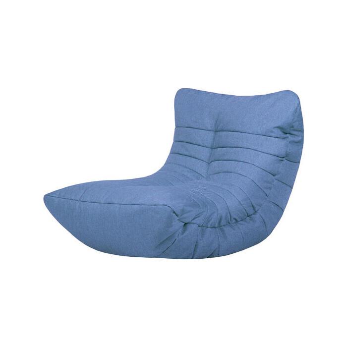 Бескаркасное кресло Папа Пуф Cocoon blue