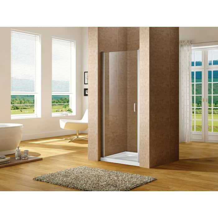 Душевая дверь Aquanet Cinetic 90 в нишу, профиль хром, стекло прозрачное (AE12-N-90H190U-CT)