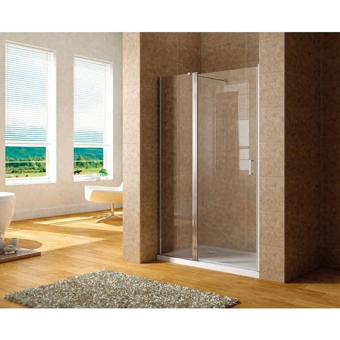 Душевая дверь Aquanet Cinetic 120 в нишу профиль хром, стекло прозрачное (AE12-N-120H190U-CT)