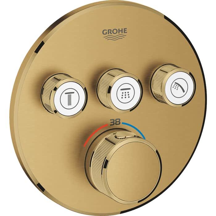 Смеситель для ванны Grohe Grohtherm SmartControl на 3 положения, холодный рассвет, накладная панель, 35600 (29121GN0)