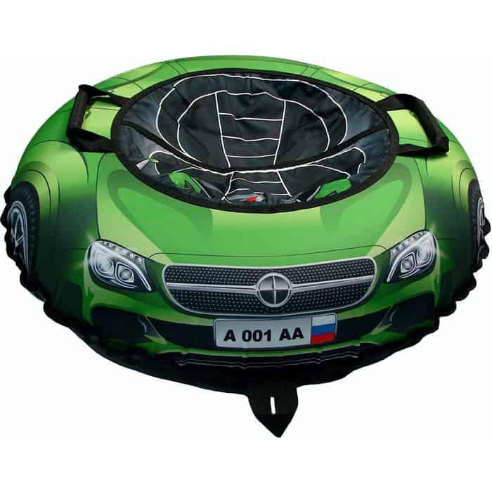 Тюбинг RT Эксклюзив SUPER CAR Mercedes зелёный автокамера, диаметр 100 см