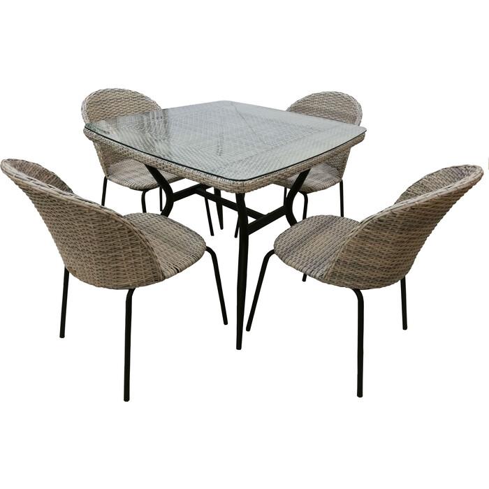 Набор мебели Garden story Эмилия без подушек T-542/Y-517/1 искусственный ротанг, стекло