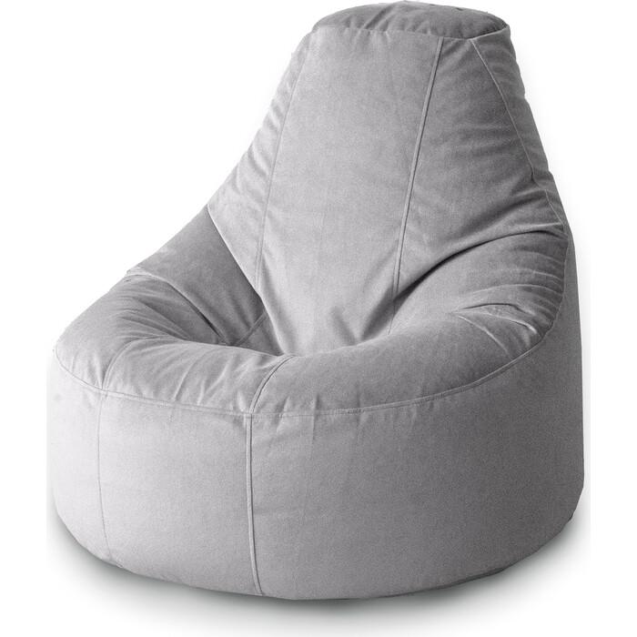 Кресло бескаркасное Mypuff Люкс сталь мебельный велюр bn-460