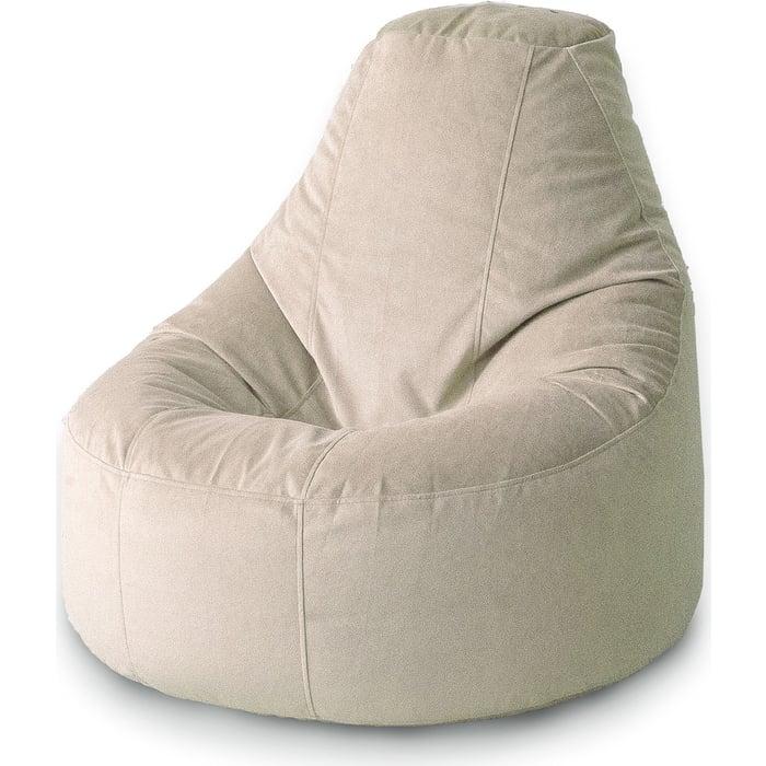 Кресло бескаркасное Mypuff Люкс латте мебельный велюр bn-423
