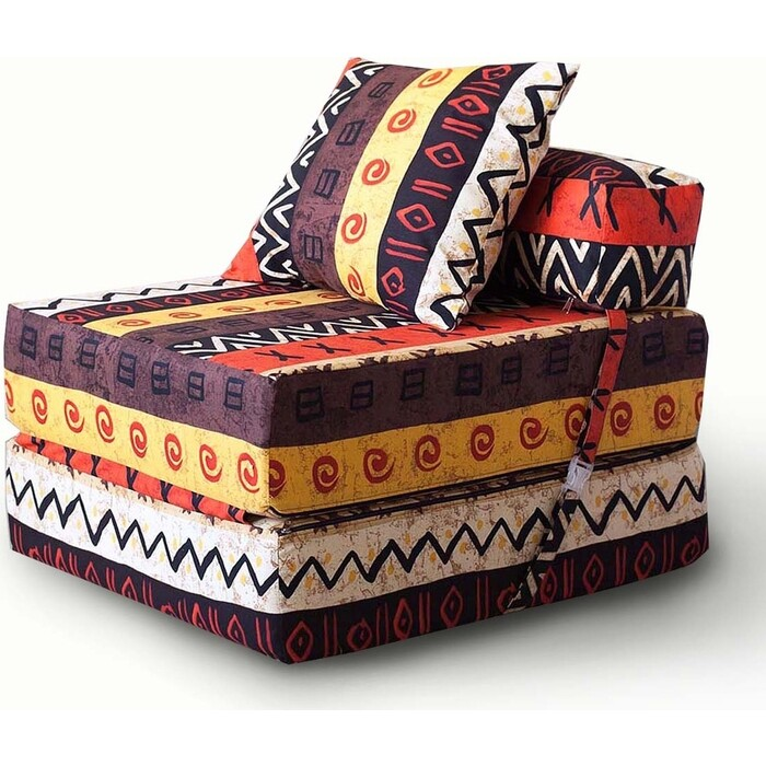 Кресло бескаркасное Mypuff Африка мебельный хлопок kv-048