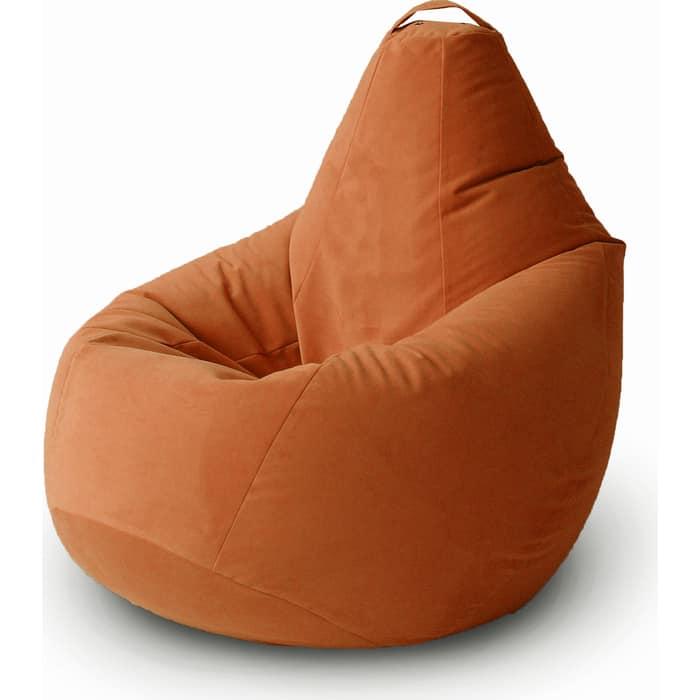 Кресло бескаркасное Mypuff Груша лиса размер комфорт мебельный велюр bbb-473