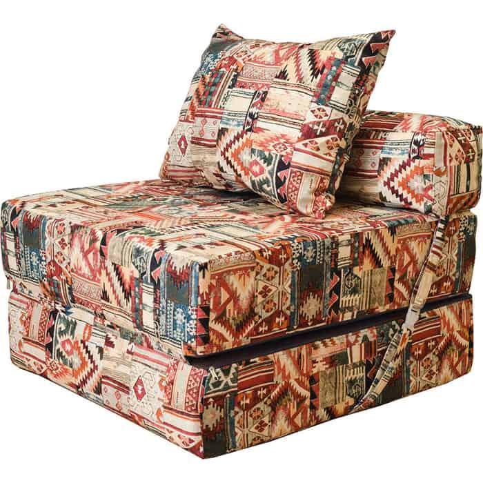 Бескаркасное кресло-кровать Mypuff Наска лето мебельная ткань kv-528-024