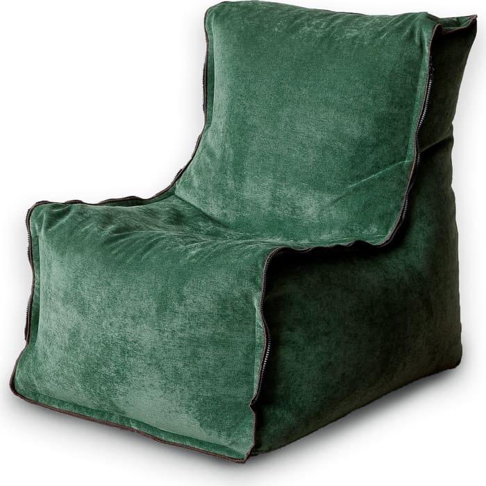 Кресло бескаркасное Mypuff Лофт-Элит зеленый микровельвет lf-452