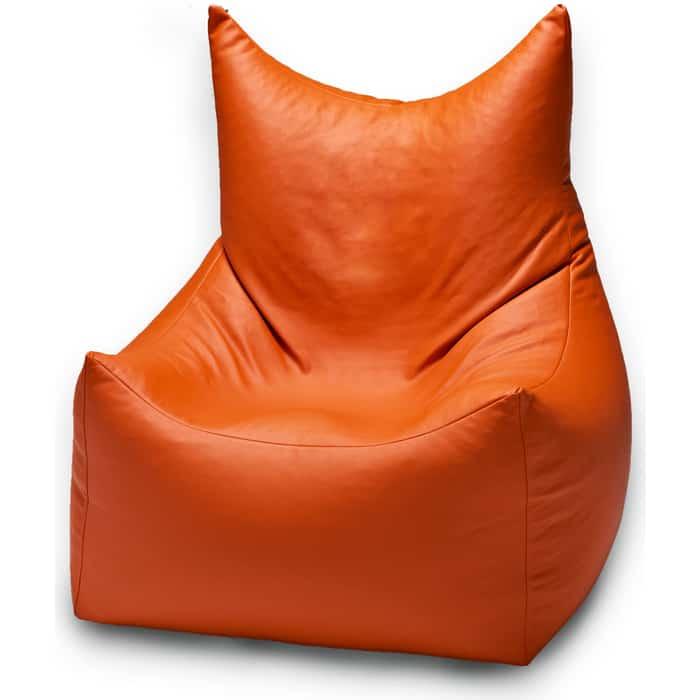 Кресло бескаркасное Mypuff Трон Вилли манго экокожа villi-058