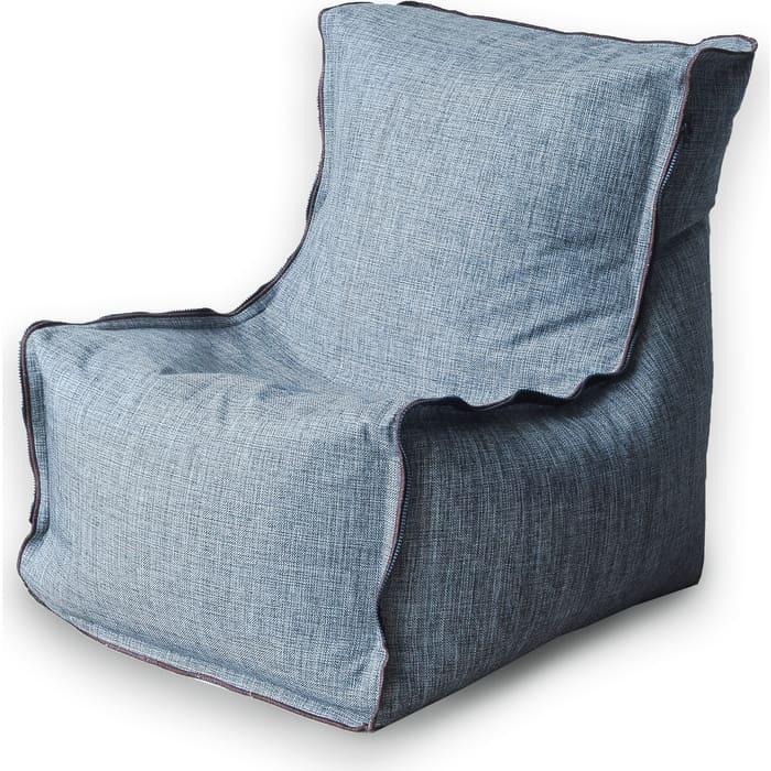 Кресло бескаркасное Mypuff Лофт серый жаккард lf-448