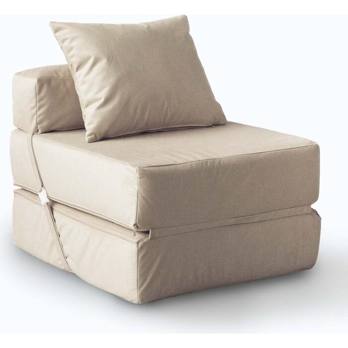 Кресло бескаркасное Mypuff Латте мебельный велюр kv-423