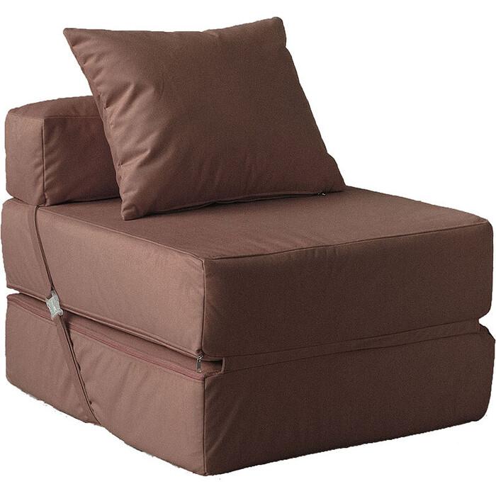 Кресло бескаркасное Mypuff Шоколад мебельный велюр kv-427