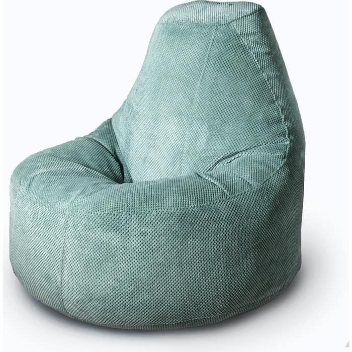 Кресло бескаркасное Mypuff Люкс ментол объемный велюр bn-504
