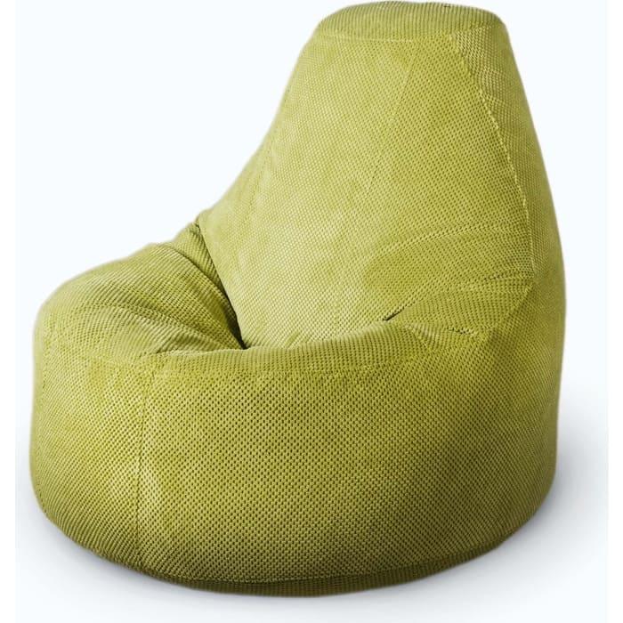 Кресло бескаркасное Mypuff Люкс салатовый объемный велюр bn-505