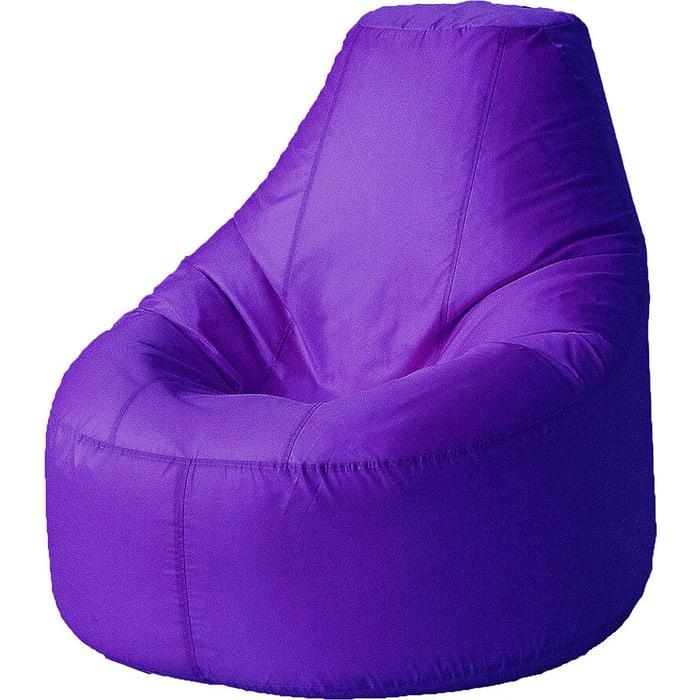 Кресло бескаркасное Mypuff Люкс фиолетовый оксфорд bn-218