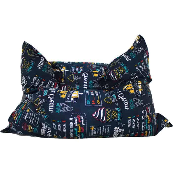 Большая подушка Mypuff Айскрим мебельный хлопок bp-443