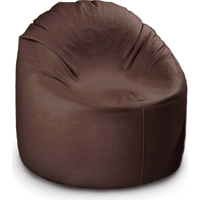 кресло бескаркасное mypuff лаунж отто бежевый экокожа l 434 Кресло бескаркасное Mypuff Лаунж отто шоколад экокожа L-147