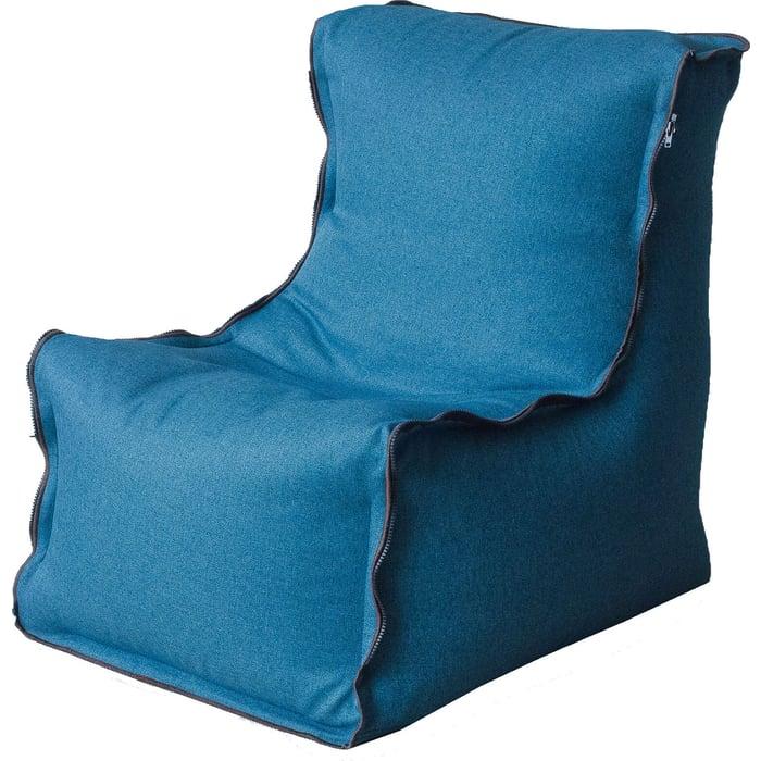 Кресло бескаркасное Mypuff Лофт бирюза жаккард-мальмо lf-439